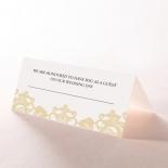 Golden Baroque Pocket reception place card design