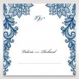 Noble Elegance wedding venue place card design