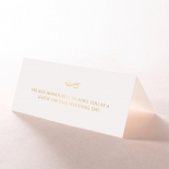 Quilted Letterpress Elegance with foil reception place card stationery