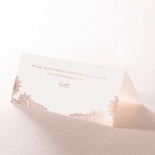 Regal Charm Letterpress with foil reception place card stationery item