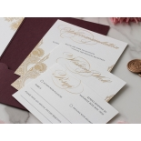 Opulent Burgundy and Gold Pocket  - Wedding Invitations - BP-SOLPW-TR30-GG-02 - 178595
