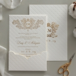 Royal Quilted Half Pocket - Wedding Invitations - WP309GG - 178271