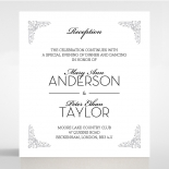 Black on Black Victorian Luxe reception wedding card design