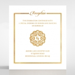 Blooming Charm with Foil reception wedding card design