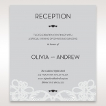 Charming Rustic Laser Cut Wrap wedding stationery reception enclosure invite card