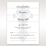 Classic Ivory Damask wedding reception card