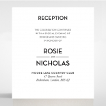 Clear Chic Charm Paper reception wedding invite card