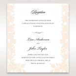 Embossed Floral Frame reception enclosure invite card