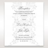 Enchanting Ivory Laser Cut Floral Wrap reception enclosure invite card design