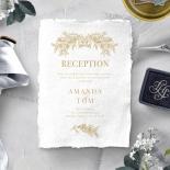 Heritage of Love wedding stationery reception enclosure card