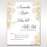 Imperial Glamour without Foil reception stationery invite card design