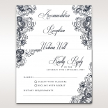 Imperial Glamour without Foil reception stationery card design