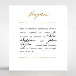 Love Letter wedding reception invitation card