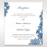 Noble Elegance reception enclosure stationery invite card