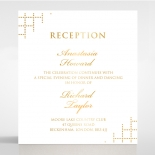 Quilted Letterpress Elegance with foil reception card
