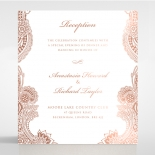 Regal Charm Letterpress with foil reception invitation