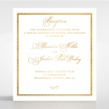 Royal Lace with Foil reception enclosure stationery invite card design