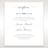 Simply Rustic reception stationery invite card