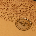 Golden Laced Pocket with Gold Foil - Wedding Invitations - PWI116022-WH-C-7616 - 178512