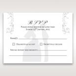 Bridal Romance rsvp wedding card