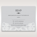 Charming Rustic Laser Cut Wrap rsvp wedding enclosure card design