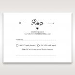 Embossed Frame rsvp wedding enclosure card