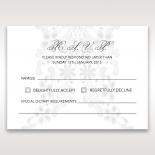 Enchanting Ivory Laser Cut Floral Wrap rsvp wedding card