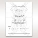 Enchanting Ivory Laser Cut Floral Wrap wedding rsvp card