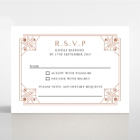 Gatsby Glamour rsvp wedding card