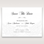 Cascading Flowers save the date card