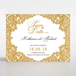 Charming Lace Frame with Foil wedding stationery save the date card item