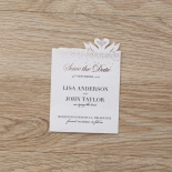 Chic Laser Cut wedding stationery save the date card design