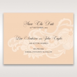 Classic White Laser Cut Sleeve wedding save the date card