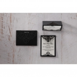 Elegant Crystal Black Lasercut Pocket wedding stationery save the date card design