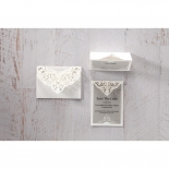 Elegant Crystal Lasercut Pocket save the date card