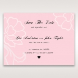 Exquisitely Embossed Floral Pocket save the date invitation stationery card
