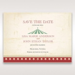 Fantastically Festive save the date wedding card