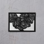 Floral Laser Cut Elegance Black wedding stationery save the date card design