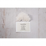 Floral Laser Cut Elegance save the date card