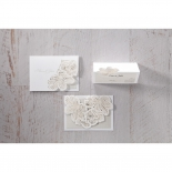 Floral Laser Cut Elegance save the date card design
