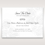 Floral Laser Cut Elegance wedding save the date stationery card design