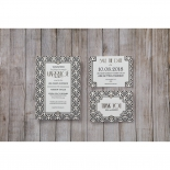 Glitzy Gatsby Foil Stamped Patterns save the date invitation stationery card