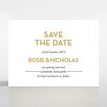 Gold Chic Charm Paper wedding save the date stationery card design
