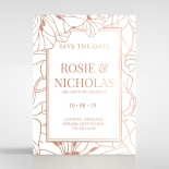 Grand Flora wedding save the date card