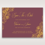 Imperial Glamour with Foil wedding save the date stationery card