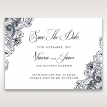 Imperial Glamour without Foil wedding save the date card design