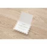 Intricate Vintage Lace wedding save the date stationery card item