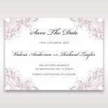 Jewelled Elegance save the date invitation card design