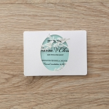 Laser cut Two Hearts save the date invitation card