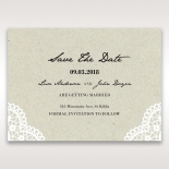Letters of love save the date stationery card design